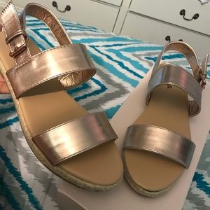 Justfab rose gold sandals